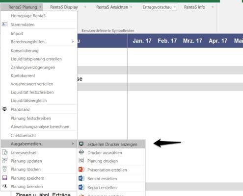 Rentas Controllingsoftware Update 2017 Druckerauswahl Bild 1