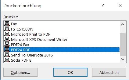 Rentas Controllingsoftware Update 2017 Druckerauswahl Bild 2