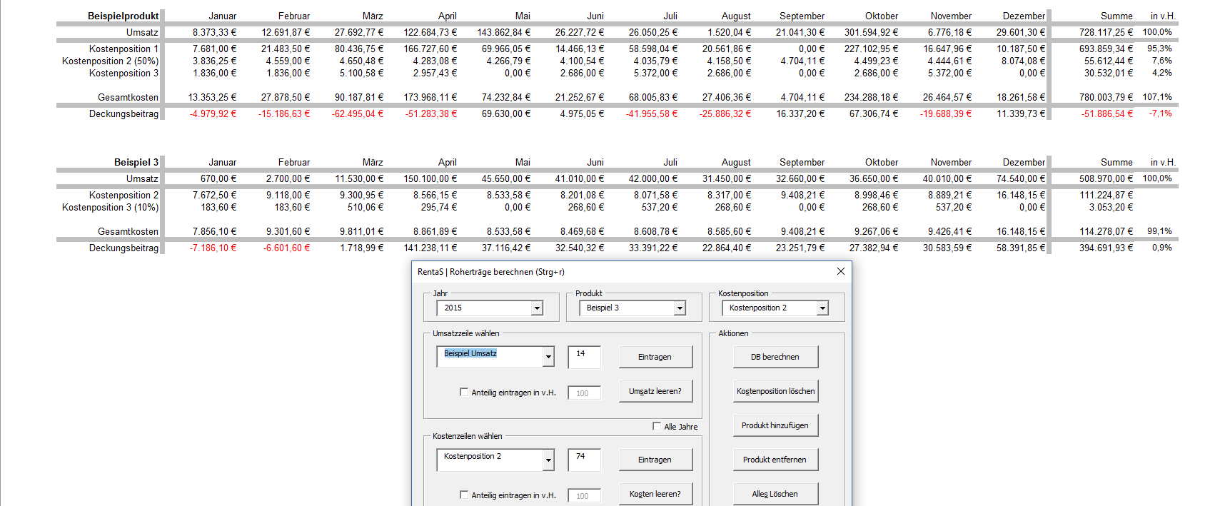 Deckungsbeiträge Berechnen : update rentas controllingsoftware unternehmensplanung aus essen ~ Themetempest.com Abrechnung
